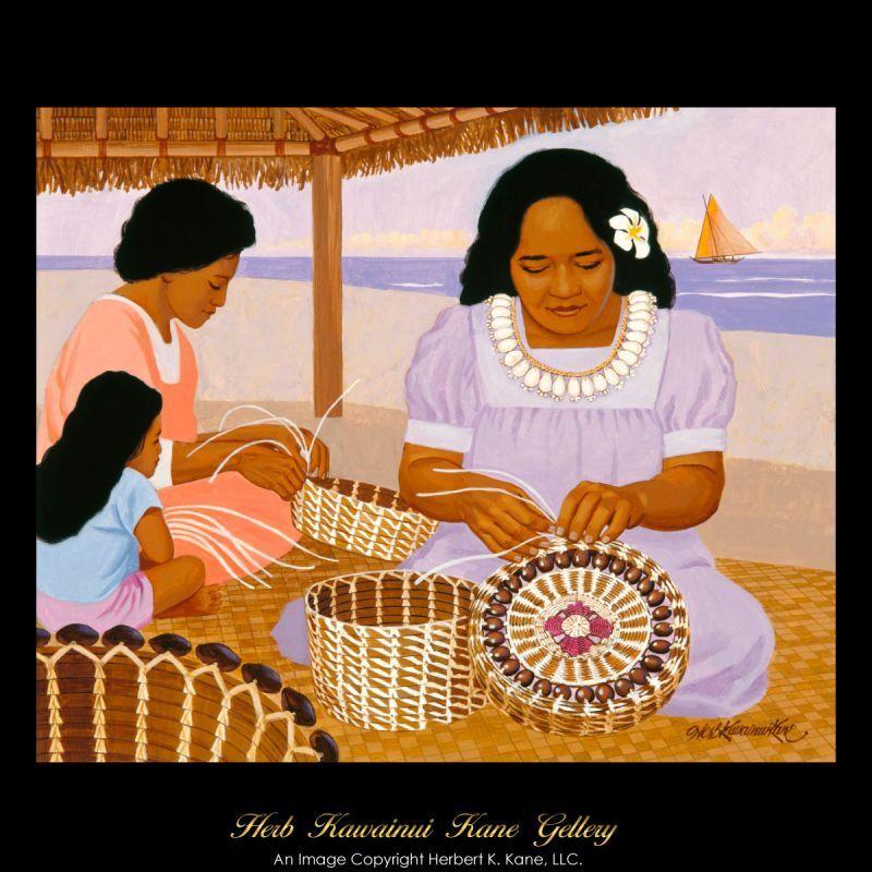 画像1: ジクレー版画 Basket Weavers (バスケット・ウィーバー) by Herb Kane (1)
