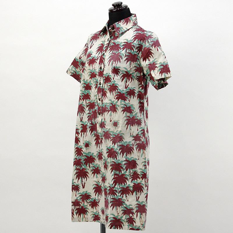 画像1: reyn spooner社製シャツドレス【ショート】【SUNSET PALMS/RED】Sale (1)