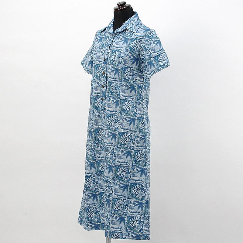 画像1: reyn spooner社製シャツドレス【ロング】【ANINI BEACH/BLUE】Sale (1)