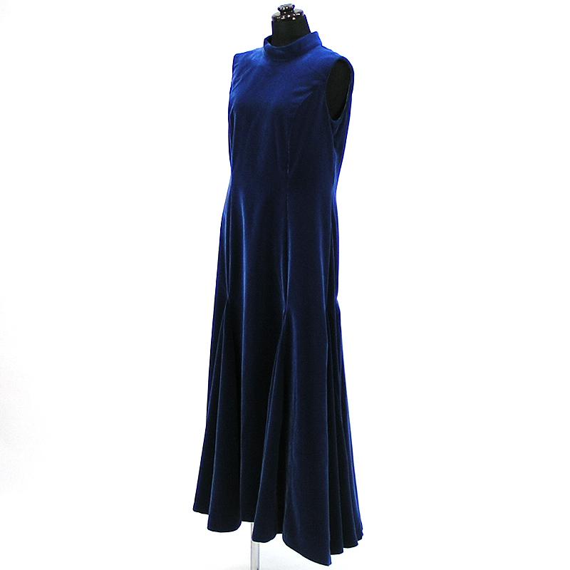 画像1: ベルベットドレス【ブルー】Sale (1)
