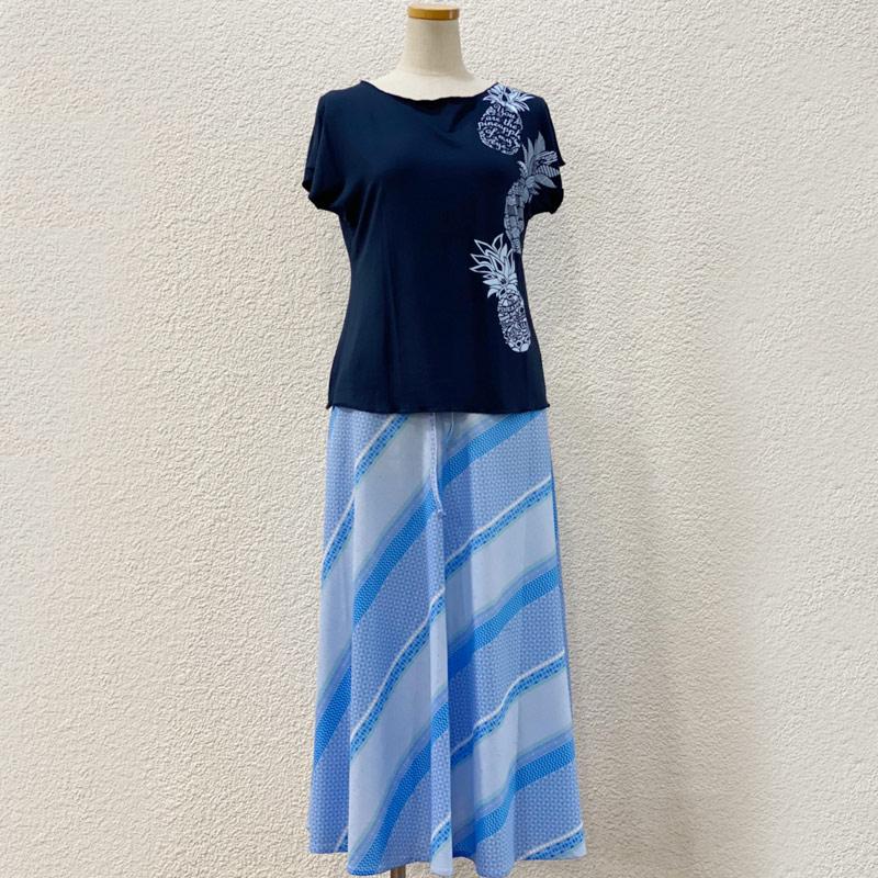 画像1: ルースフィットTシャツ&2wayスカート コーディネートセット (1)