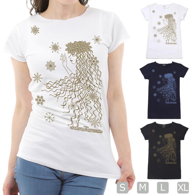 画像1: スリムフィット ショートスリーブ Tシャツ ポリアフ柄 ネコポス対応可 (1)