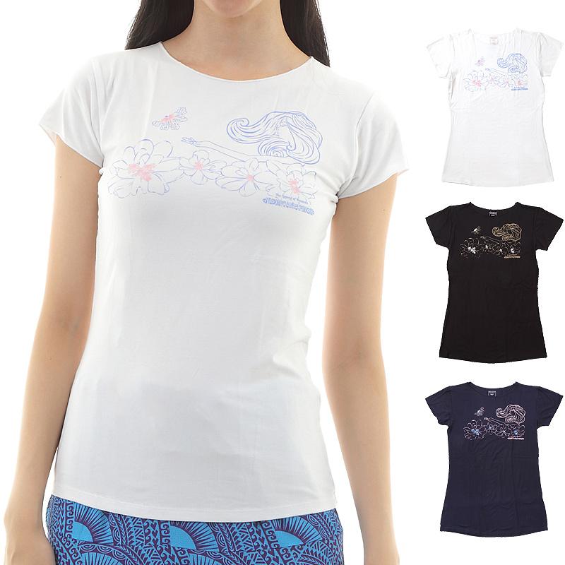 画像1: 売り切りSALE スリムフィット フレンチスリーブ Tシャツ ナウパカ柄 ネコポス対応可 (1)