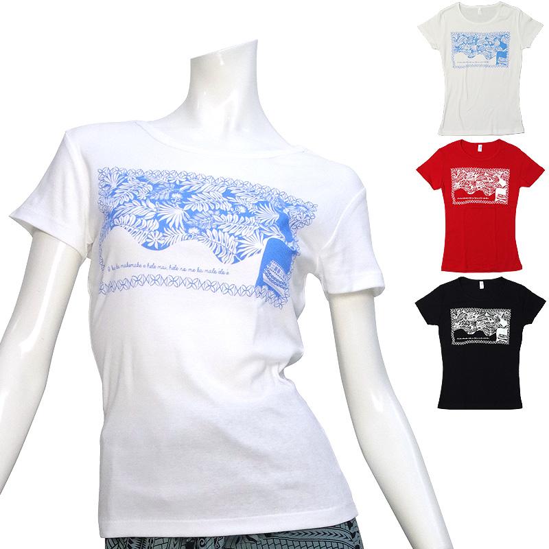 画像1: 速乾加工 フライス 半袖 Tシャツ≪モアナ ヘレ柄≫≪ネコポス対応可≫ (1)