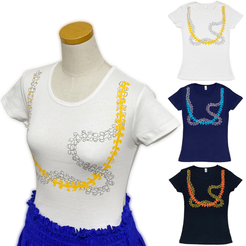 画像1: フラ 半袖 レッスンTシャツ フライス レイプアケニケニ柄 ネコポス対応可 (1)